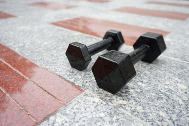 Dumbbells come in a range of selection