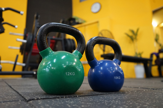 Kettlebell comes in a range of weight