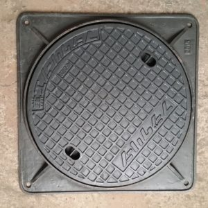 Ductile iron cast manhole cover