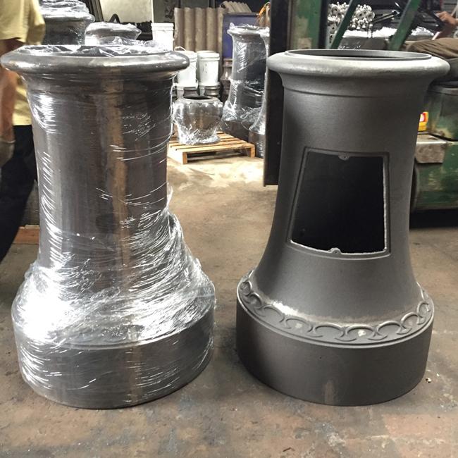 Grey cast iron lamp post base