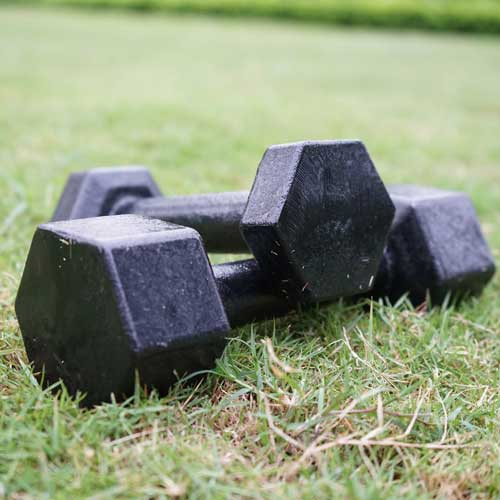 Metal foundry dumbbells