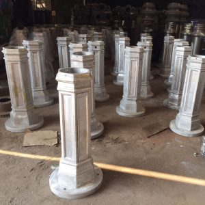 OEM aluminum casting lamp post base