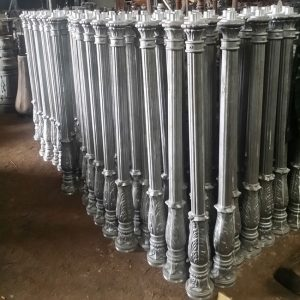 OEM aluminum casting lighting pole