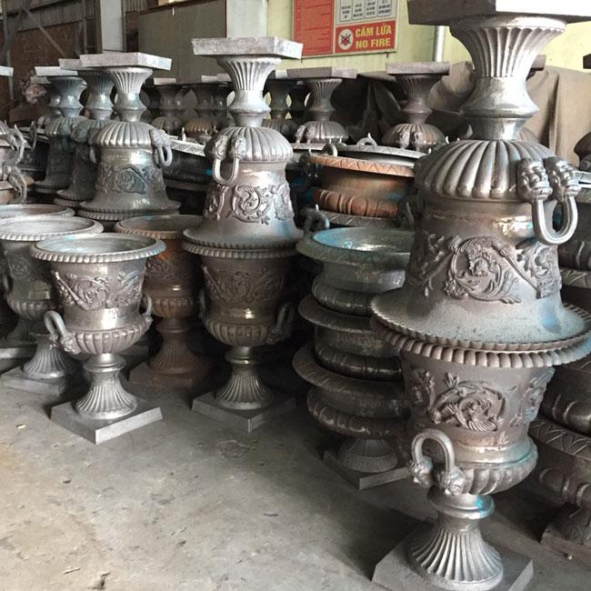 OEM grey iron casting urn planters