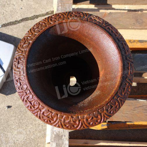 Small Plain Classic Cast Iron Urn Planter