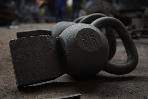 All kettlebells at vic are single cast from high quality material