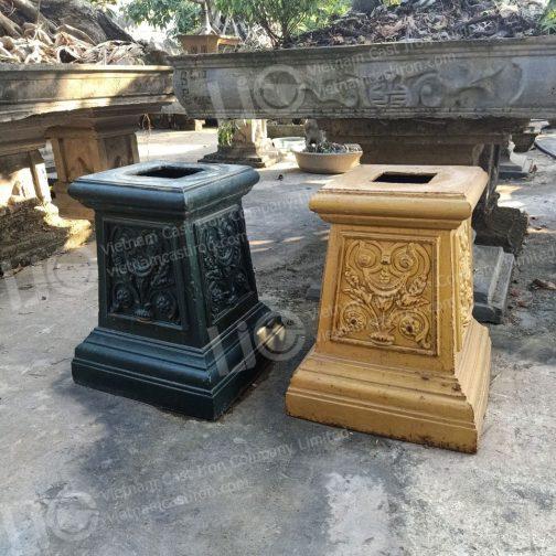 Cast iron urn base
