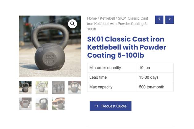 single cast iron kettlebell