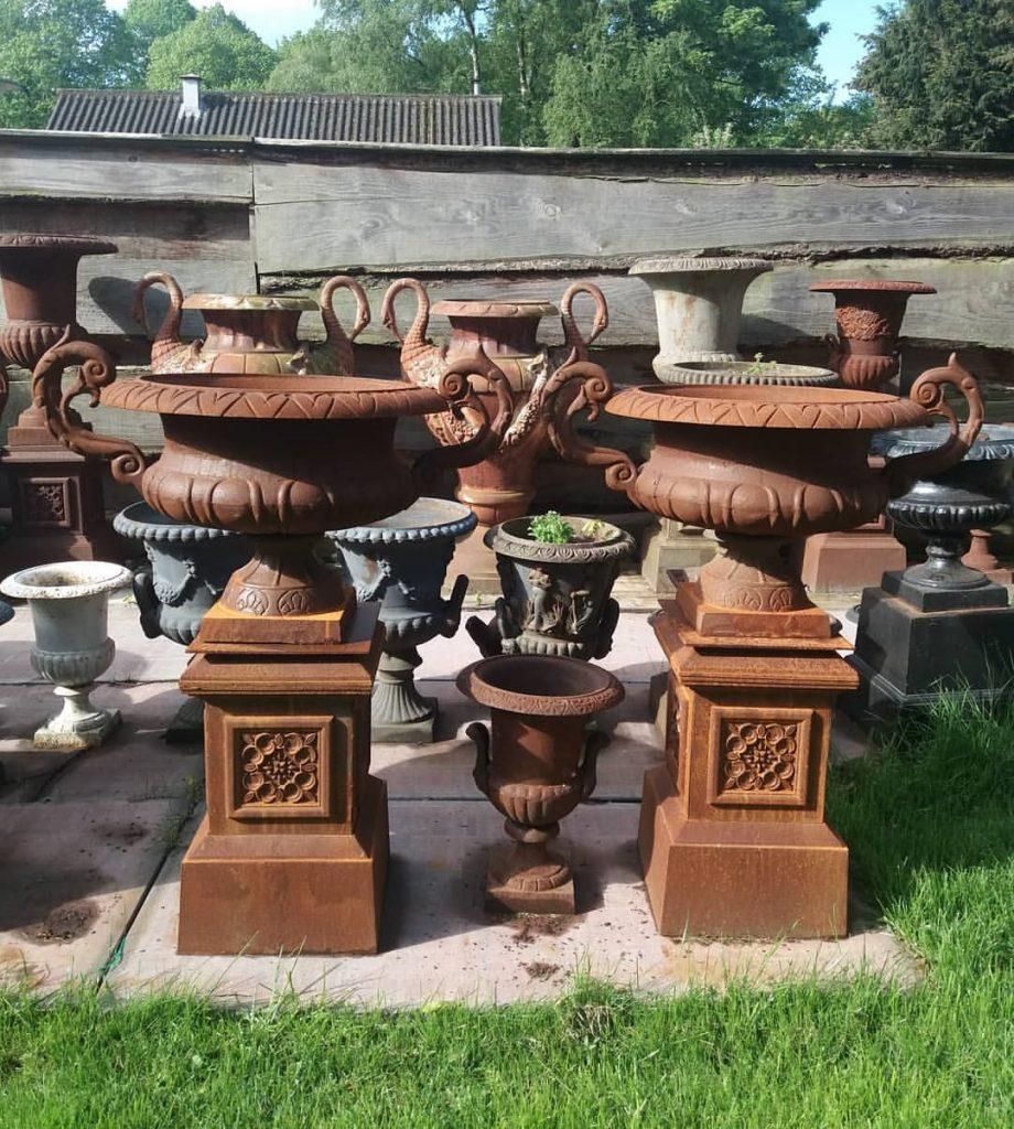 vintage cast iron urn planters
